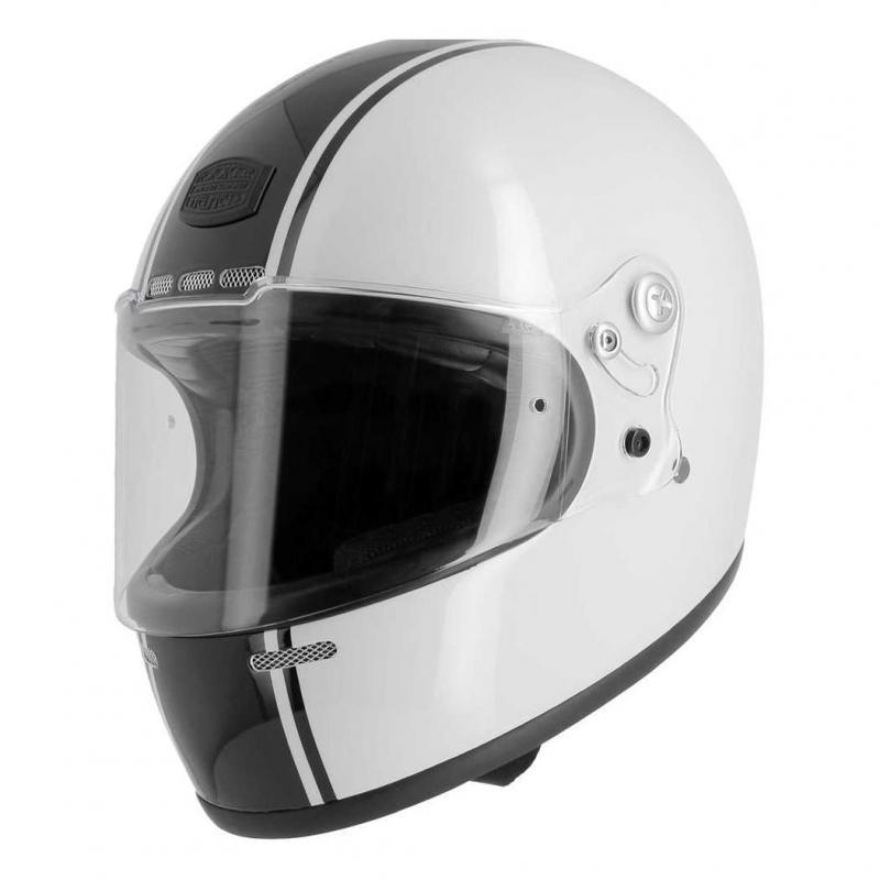Casque intégral Astone VINTAGE GT RETRO blanc/noir