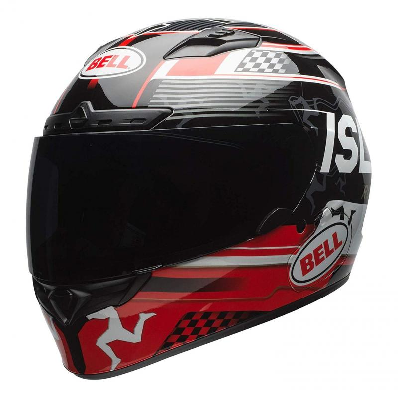 Casque intégral Bell DLX Mips Isle Of Man 18 noir/rouge