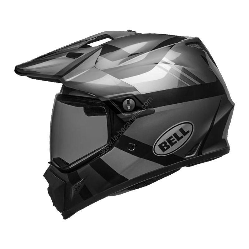 Casque intégral Bell MX 9 Adventure Blackout Mips Gloss noir mat/noir brillant