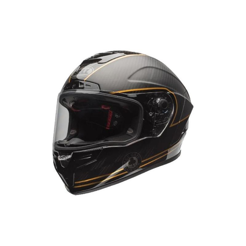 Casque intégral Bell Race Star Speed Check noir mat/or