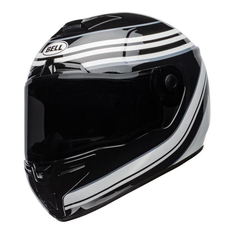 Casque intégral Bell SRT Vestige Gloss blanc/noir
