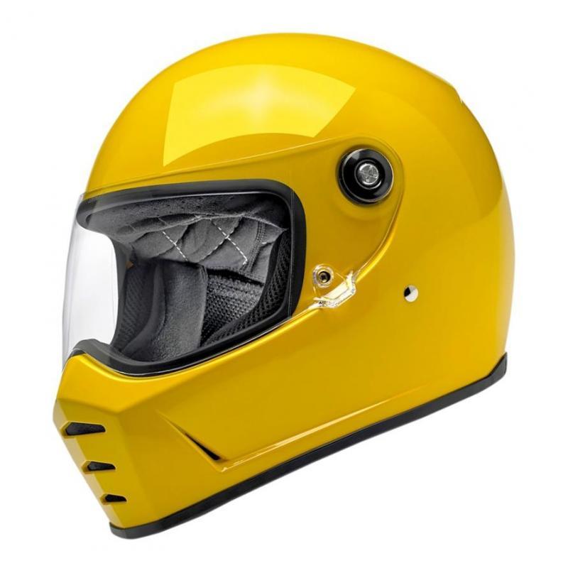 Casque intégral Biltwell Lane Splitter Safe-T jaune brillant