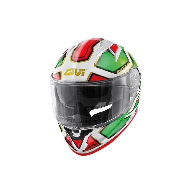 Casque intégral Givi 50.6 Sport Deep Italie blanc/vert/rouge/or