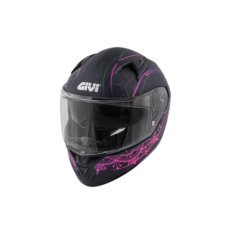 Casque intégral Givi 50.6 Stoccarda Mendhi Lady noir/rose