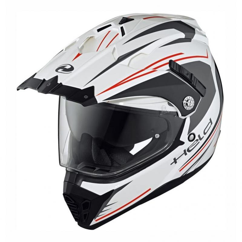 Casque intégral Held ALCATAR blanc/rouge