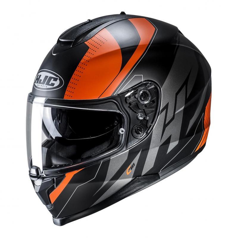 Casque intégral HJC C70 Boltas noir/orange
