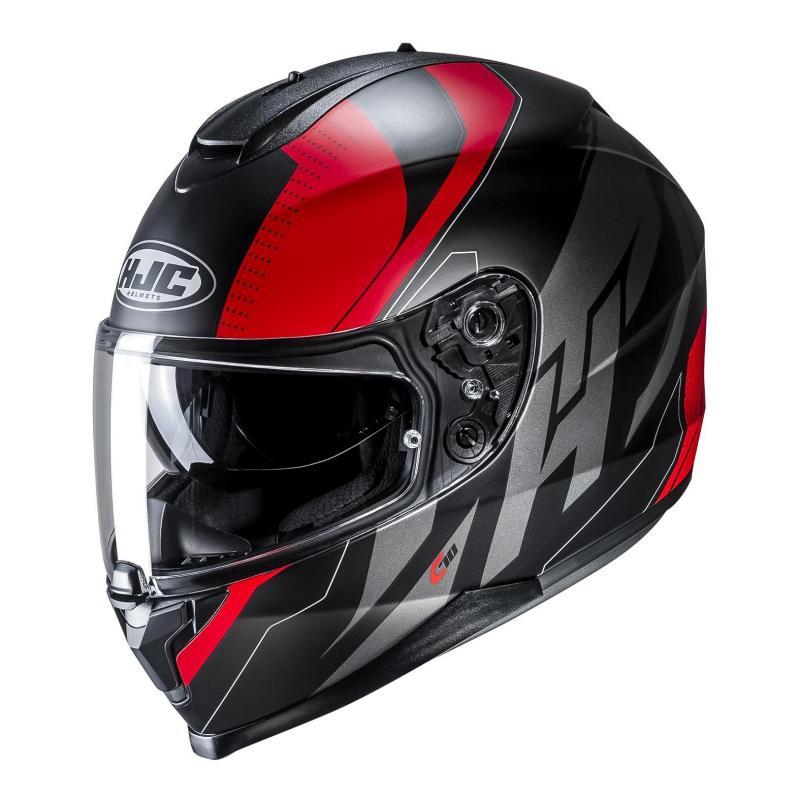 Casque intégral HJC C70 Boltas noir/rouge