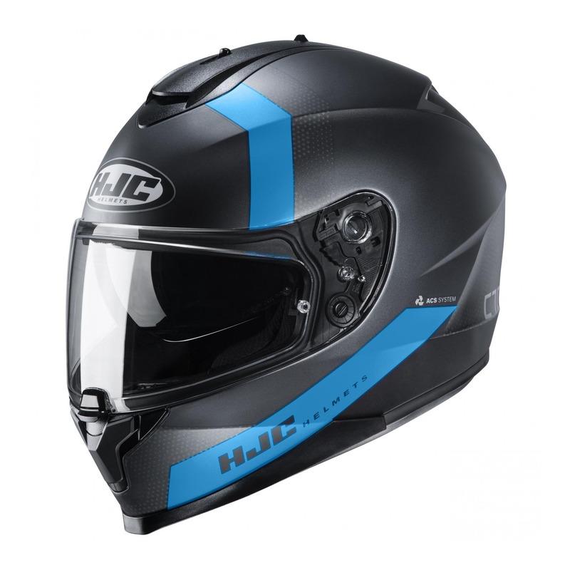 Casque intégral HJC C70 Eura MC2SF bleu/noir