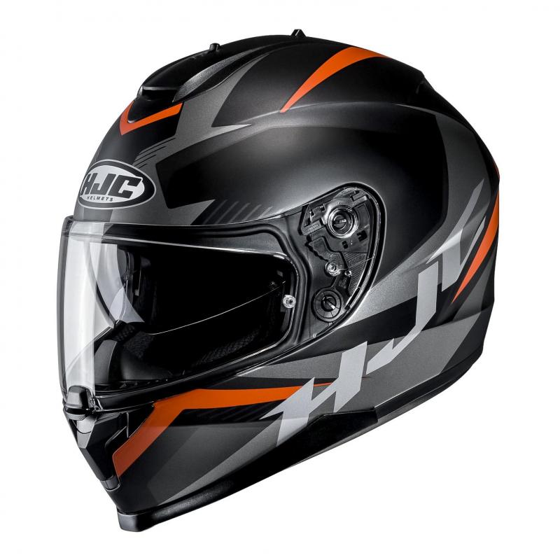 Casque intégral HJC C70 Troky noir/orange
