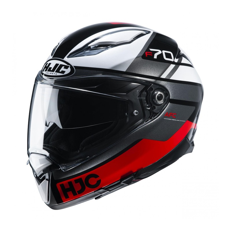 Casque intégral HJC F70 Tino MC1 gris/blanc/rouge