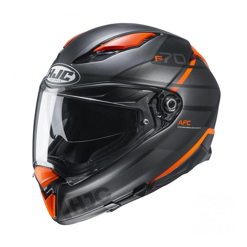 Casque intégral HJC F70 Tino MC7SF gris/noir/orange
