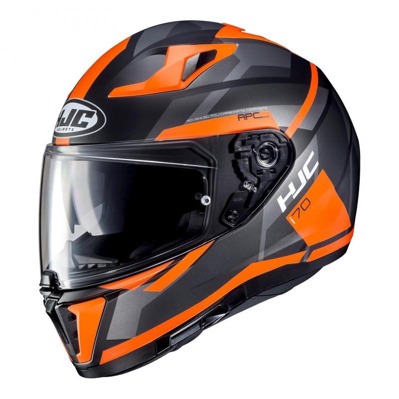 Casque intégral HJC I70 Elim noir/orange fluo