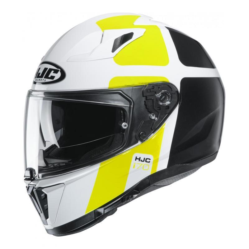 Casque intégral HJC i70 Prima MC4H blanc/vert fluo/noir