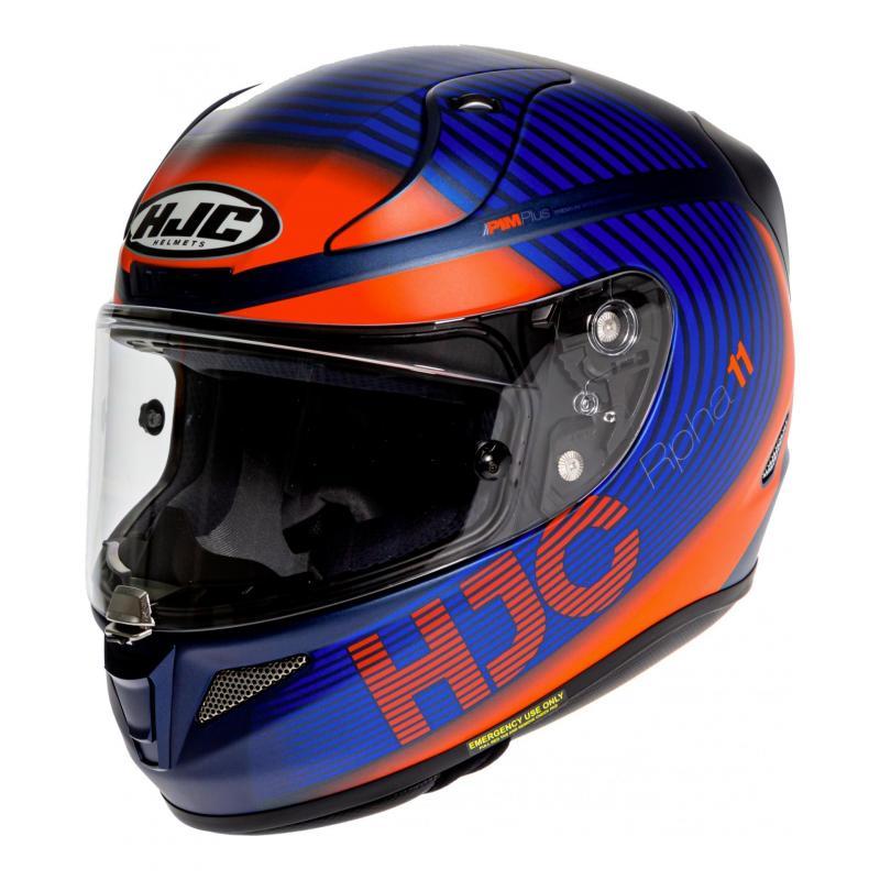 Casque intégral HJC RPHA 11 Bine MC27SF orange/bleu