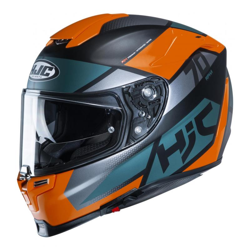Casque intégral HJC RPHA 70 Debby MC7SF orange/bleu/gris