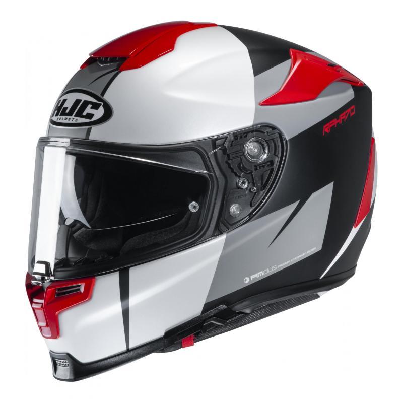 Casque intégral HJC RPHA 70 Terika MC1SF blanc/rouge/gris