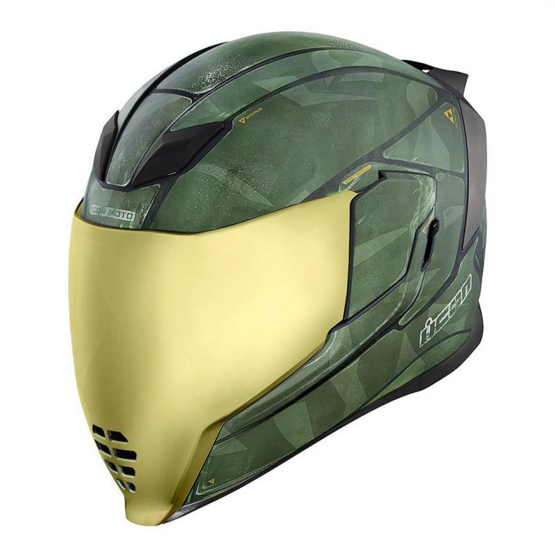 Casque intégral Icon Airflite Battlescar 2 vert