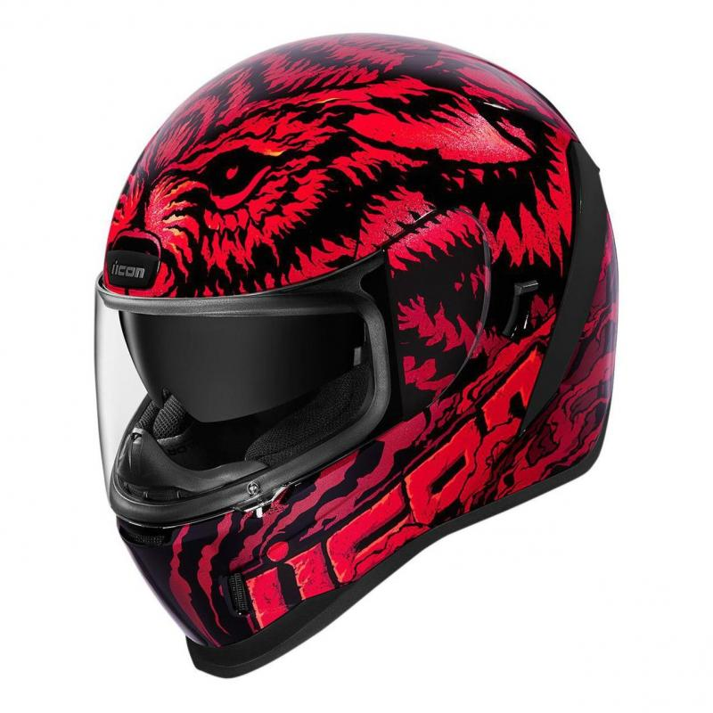 Casque intégral Icon Airform Lycan rouge