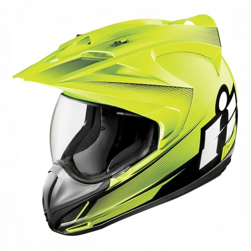 Casque intégral Icon Double Stack Variant jaune