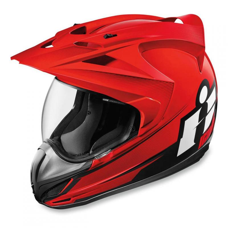 Casque intégral Icon Double Stack Variant rouge