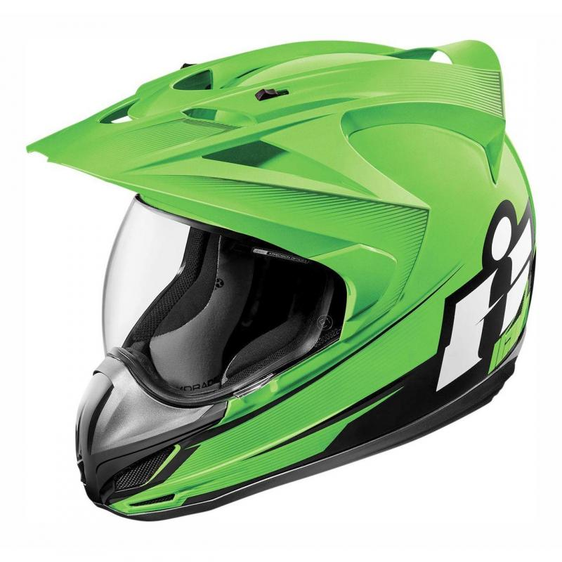 Casque intégral Icon Double Stack Variant vert