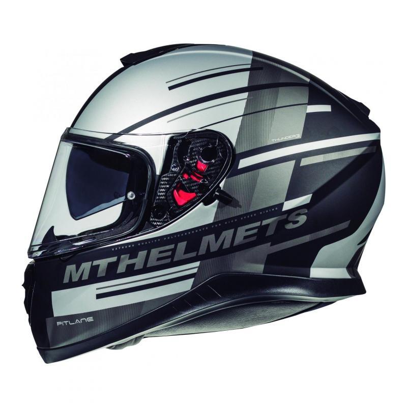 Casque intégral MT Helmet Thunder 3 SV Pitlane gris mat