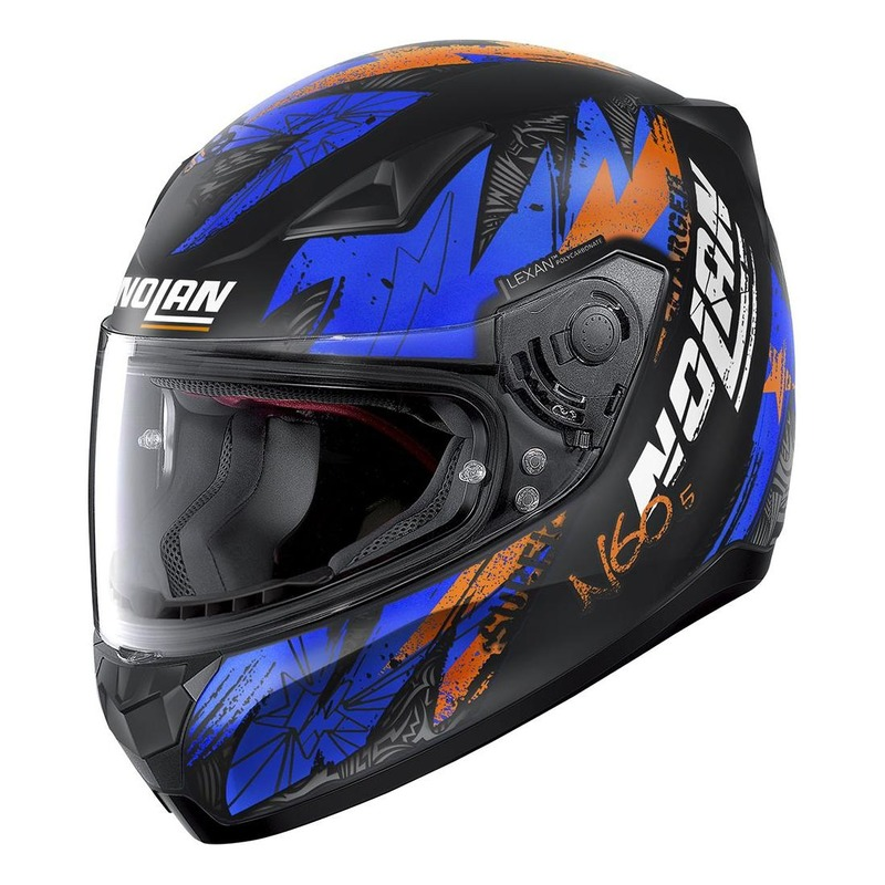Casque intégral Nolan N60-5 Bounty Mat noir/bleu/orange