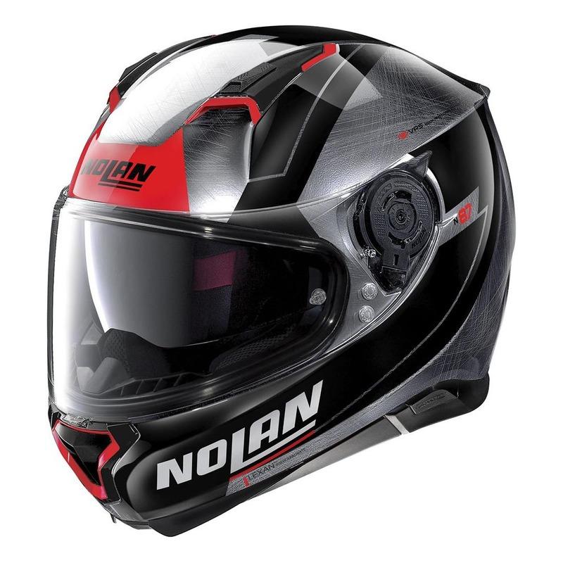 Casque intégral Nolan N87 Skilled N-Com Scratched chrome