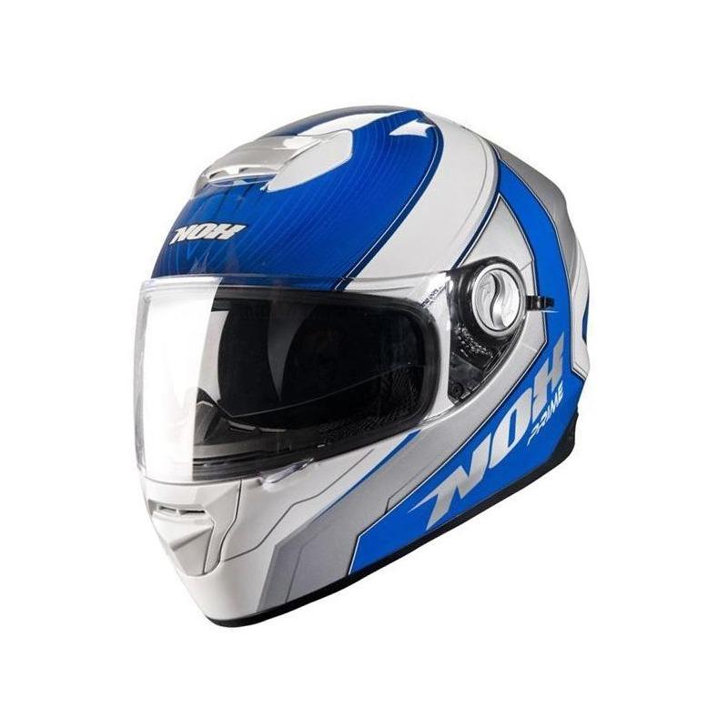 Casque intégral Nox N301 PRIME blanc/bleu