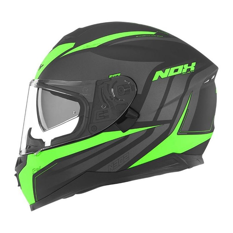 Casque intégral Nox N302 Shape vert