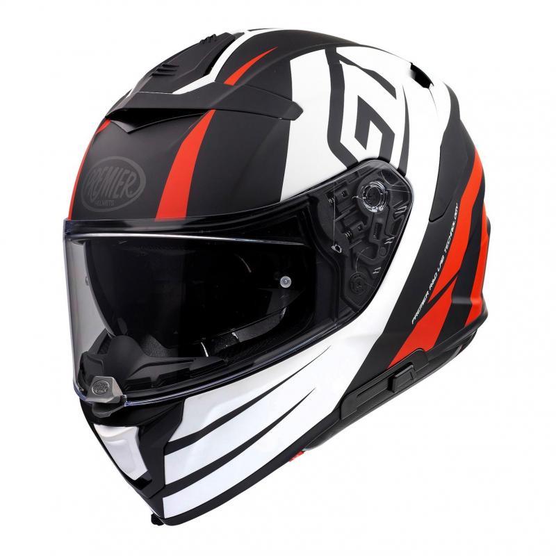 Casque intégral Premier Devil GT92 BM blanc/noir/rouge