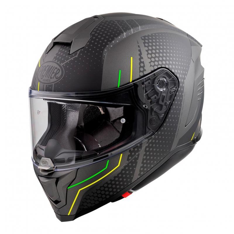 Casque intégral Premier Hyper BP6BM noir/jaune/vert