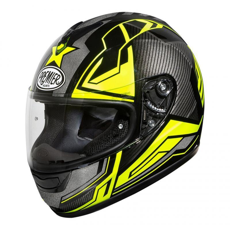 Casque intégral Premier Monza ST Y gris/jaune