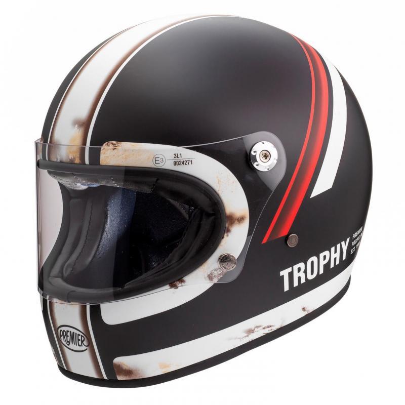 Casque intégral Premier Trophy DO92 OS BM noir/rouge/blanc