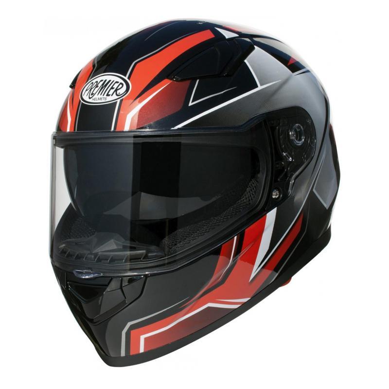 Casque intégral Premier Viper SR 92 noir/rouge