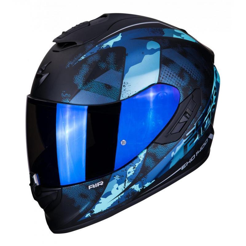 Casque intégral Scorpion Exo-1400 Air Sylex Mat noir/bleu