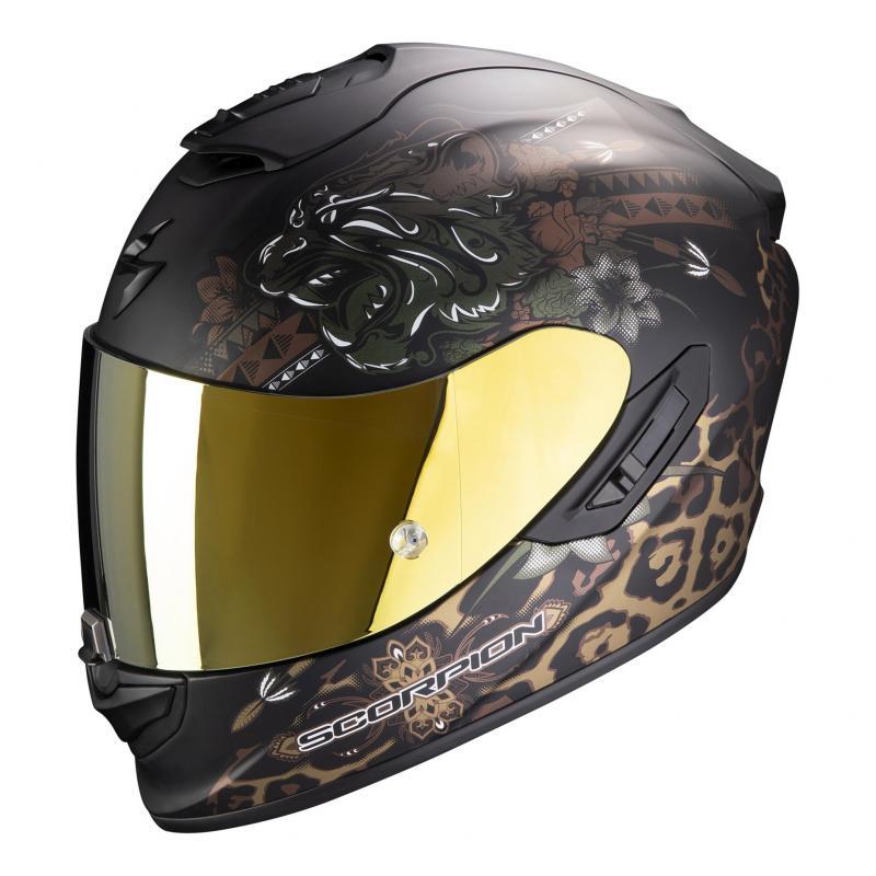 Casque intégral Scorpion Exo-1400 Air Toa noir/or mat