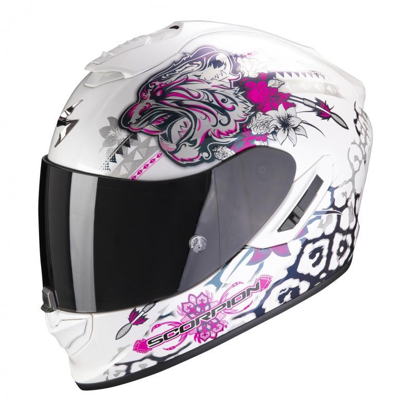 Casque intégral Scorpion Exo-1400 Air Toa blanc/rose