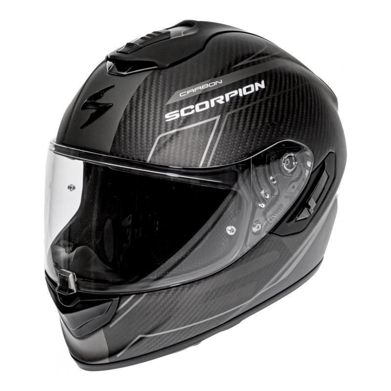 Casque intégral Scorpion Exo-1400 Carbon Air Beaux noir/argent mat