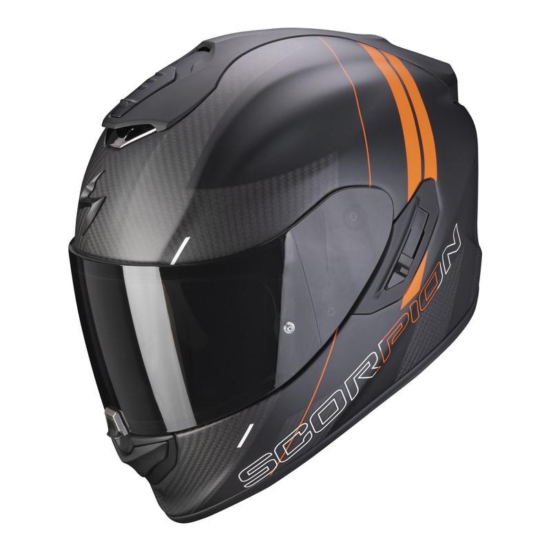 Casque intégral Scorpion EXO-1400 Carbone Air Drik Mat noir/orange