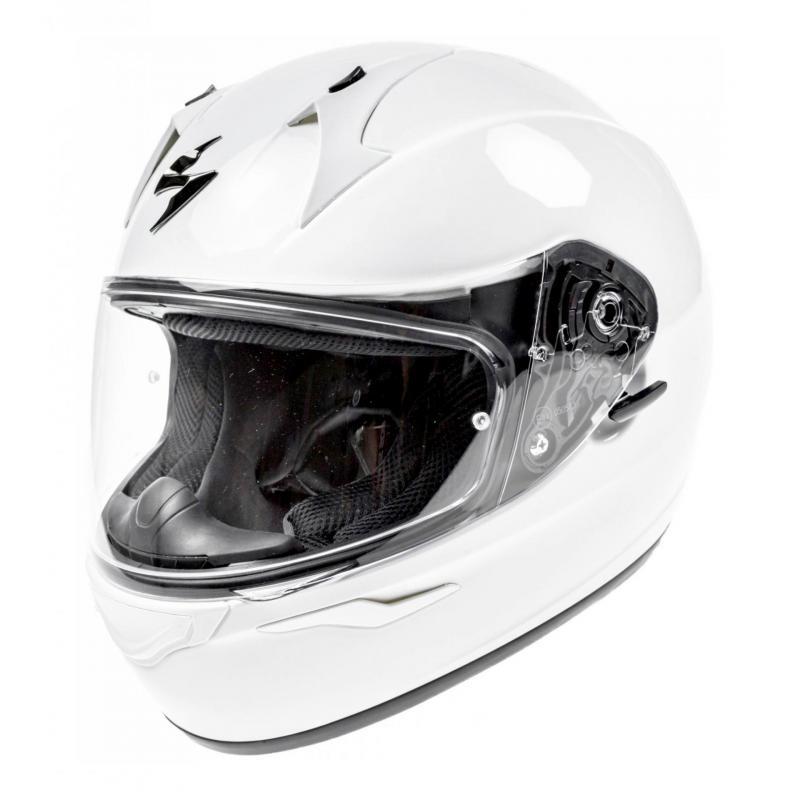 S SCORPION Casque moto EXO 390 Blanc Blanc