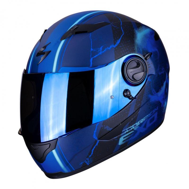 Casque intégral Scorpion Exo-490 Dar Mat bleu