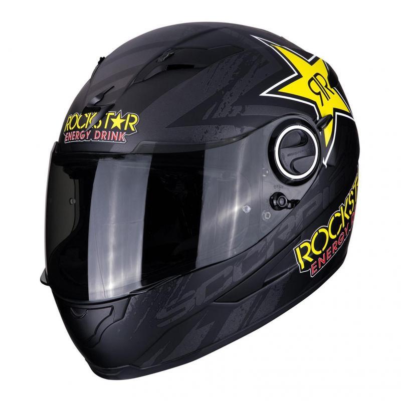Casque intégral Scorpion Exo-490 Rockstar Mat noir/jaune/rouge