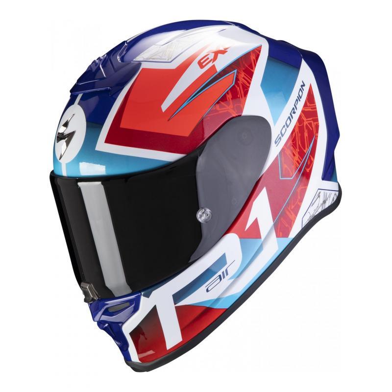 Casque intégral Scorpion Exo-R1 Air Infini blanc/bleu/rouge