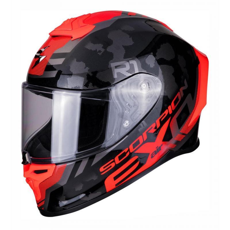 Casque intégral Scorpion Exo-R1 Air Ogi noir/rouge