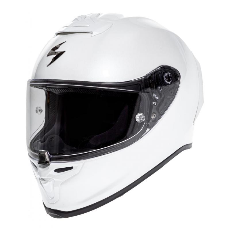 Casque intégral Scorpion Exo-R1 Air Solid Pearl blanc
