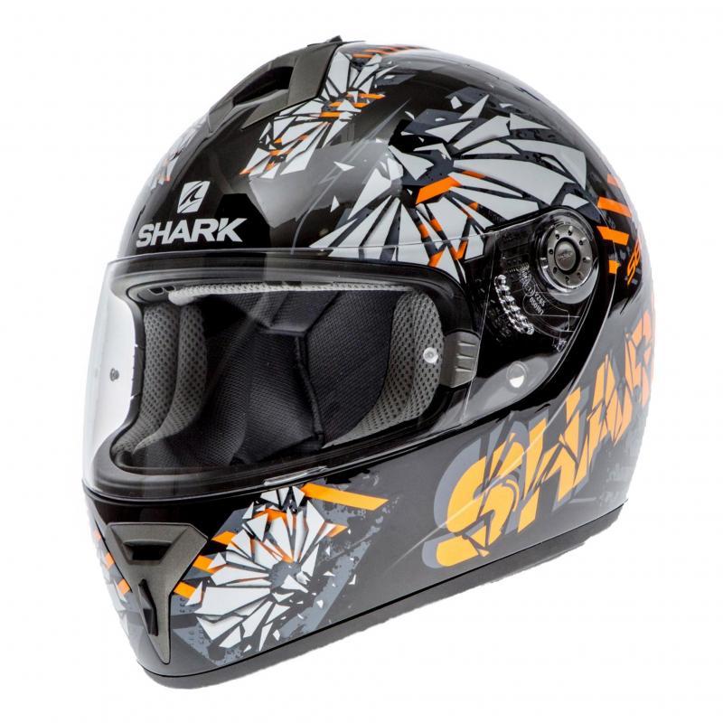 Casque intégral Shark S600 PINLOCK POONKY noir/orange/anthracite