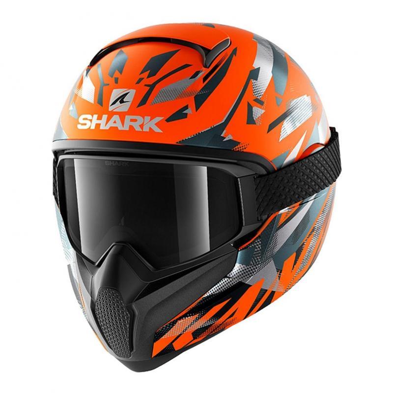 Casque intégral Shark Vancore 2 Kanhji Mat orange fluo/anthracite/anthracite
