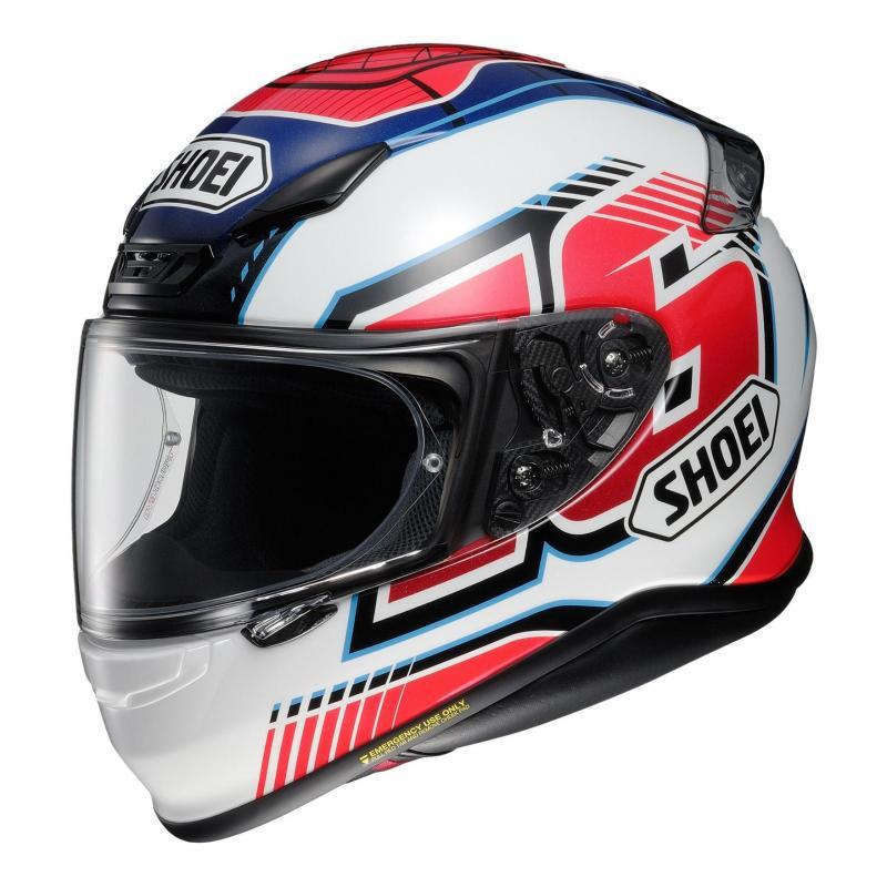 Casque intégral Shoei NXR Cluzel TC-1 bleu/blanc/rouge