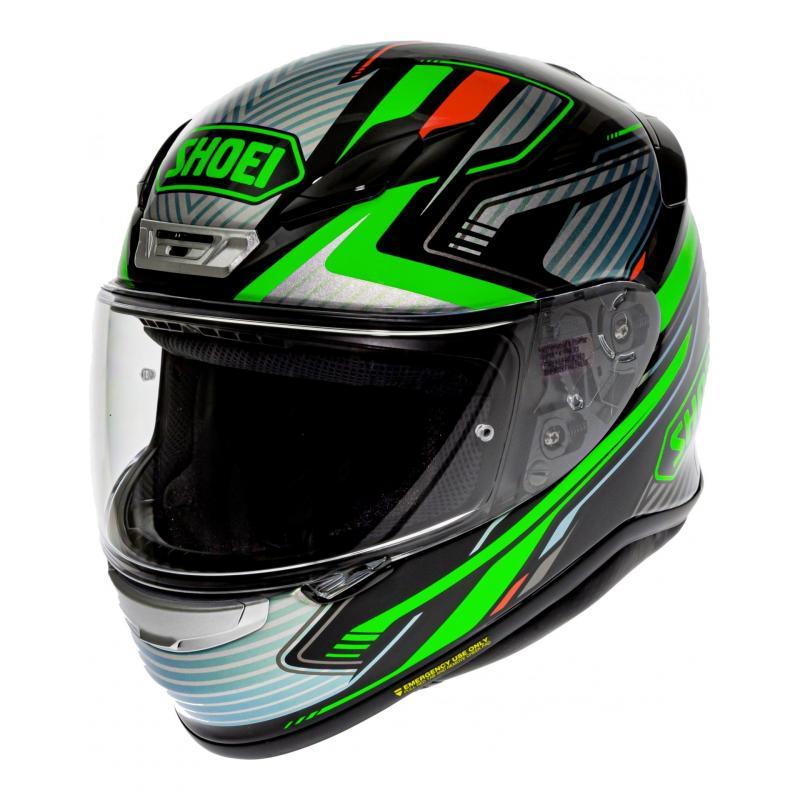 Casque intégral Shoei NXR Stab TC-4 vert/gris/rouge/noir
